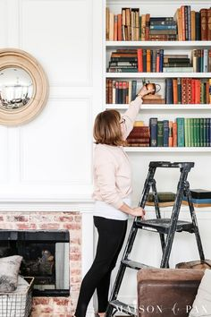 how to redecorate bookcases: 5 tips for transitioning your decor from winter to spring decorating Library Inspiration, Romantic Homes, Shelfie, Easy Home Decor, Spring Home, White Decor, Bookcases, Home Improvement Projects, Vintage Decor