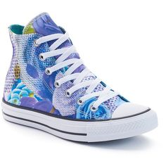 Women's Converse Chuck Taylor All Star Digital Floral High-Top... ($60) ❤ liked on Polyvore featuring shoes, sneakers, white oth, floral print sneakers, converse shoes, converse high tops, flower print shoes and white sneakers