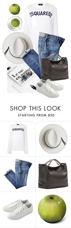 """Style#1244"" by mussedechocolate ❤ liked on Polyvore featuring Dsquared2, Calypso Private Label, Bottega Veneta and Baleri Italia"