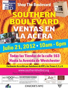 Southern Boulevard BID July Sidewalk Sale 2012 Promo Flyer (spa)