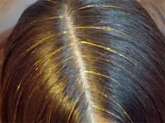 How to tie hair tinsel