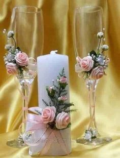- Decoration World Wedding Crafts, Diy Wedding, Wedding Favors, Wedding Bottles, Table Wedding, Wedding Wine Glasses, Wedding Champagne Flutes, Champagne Glasses, Decorated Wine Glasses
