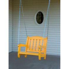 Prairie Leisure Garden Chair 2 ft. Single Person Porch Swing - 45-UNFINISHED