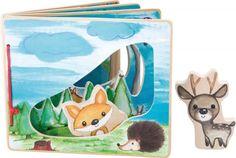 Dřevěná obrázková knížka - Interaktivní hra