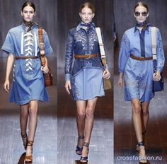модные джинсовые платья весна-лето 2015