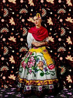 Frida Kahlo Outfit – Best Outfits to Wear Frida Kahlo Artwork, Frida Paintings, Frida Kahlo Portraits, Frida Art, Diego Rivera, Mexican Folk Art, Mexican Style, Frida E Diego, Hijab Fashion Inspiration
