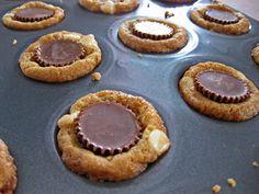 Macadamia Nut Mini Recees Cup Cookies.