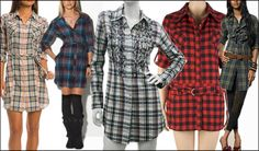 Don't know what it is but I'm diggin plaid shirt dresses right now!