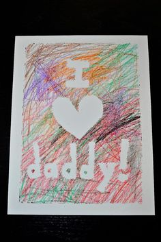Easy Handmade Father's Day Cards from Toddlers | Easy Taped Father's Day Card Idea by DIY Ready at http://diyready.com/21-diy-fathers-day-cards/