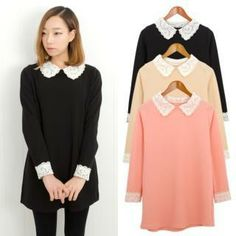 Buy 'Cookie 7 – Lace-Collar Tunic ' with Free International Shipping at YesStyle.com. Browse and shop for thousands of Asian fashion items from South Korea and more!