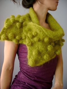 Bubbled Bobble Neck Warmer Cowl