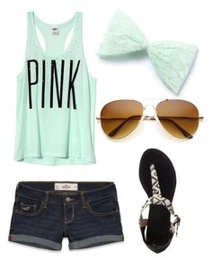 """Untitled #131"" by allymarie-0505 ❤ liked on Polyvore featuring Victoria's Secret, Hollister Co. and Forever 21"