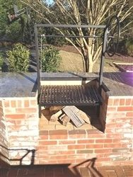 Argentine Grill Kit without Brasero with Drip-pan, Cables, Side Rails, Ratchet Lock, and Wheel
