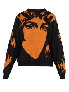 Handmaiden intarsia-knit sweater | Merino Wool, Fabrics, Fancy, Knitting, Sweatshirts, Sweaters, T Shirt, Closet, Inspiration
