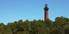 The Currituck Beach Light Station is made of approximately 1 million red bricks. Visitors can climb its 214 steps from Easter to Thanksgiving each year.