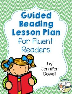 This guided reading lesson plan is for fluent readers (levels O-Z). The lesson will tell what to do with your reading group before reading, during reading, and after reading. There is a editable lesson plan template with step by step directions. FREEBIE