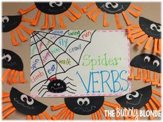 The Bubbly Blonde: Spider Verbs {Freebie}