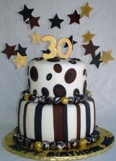 Happy Birthday Cake idea pink and grey or purple and yellow
