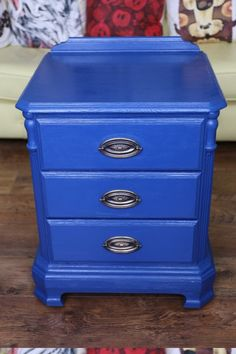 Gorgeous Upcycled Original Ducal 3 Drawer Cabinet/bedside Table, John Lewis…