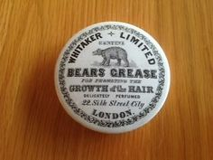 RARE BEARS GREASE POT LID BY WHITAKER OF LONDON SUPERB CONDITION