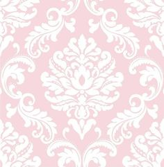 This pink damask baby wallpaper is a posh look for a nursery that will transition beautifully as your child grows. #windowfilmworld #windowfilm #walldecor #staticcling #homedecor