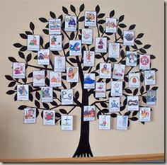 Jesse tree for 40 days of Lent.  Great activity to do with your children.