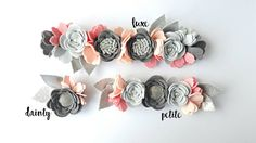PETITE LAYLA Felt Flower Crown / Felt Flower por shopfeltinbloom