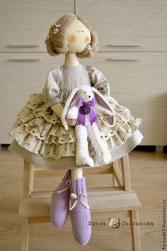 Купить КУКЛА для Юлии - сиреневый, кукла ручной работы, текстильная кукла, кукла, кукла текстильная