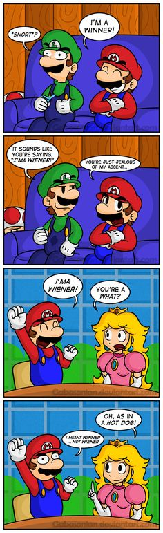Mario's Authentic Accent by Gabasonian.deviantart.com on @DeviantArt