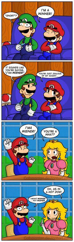 Mario's Authentic Accent by Gabasonian.deviantart.com on @DeviantArt