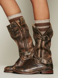 so stylish. Bed Stu Cafe Racer Boot at Free People Clothing Boutique Crazy Shoes, Me Too Shoes, Hippie Style, My Style, Mode Shoes, Women's Shoes, Over Boots, Look Fashion, Womens Fashion