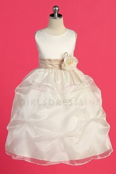 Organza flower girl dress
