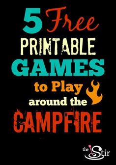 Love #4. So fun! http://thestir.cafemom.com/home_garden/173151/5_free_printable_campfire_games?utm_medium=sm&utm_source=pinterest&utm_content=thestir