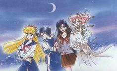 "Inner Senshi with ribbons from ""Sailor Moon"" series by manga artist Naoko Takeuchi."