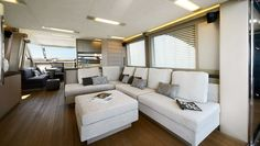 interiors of luxury yachts | Luxury yacht MCY 70 - Interior - The latest motor yacht MCY 70 by ...