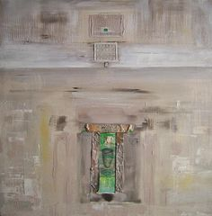 View abstract painting - Relic 1 -  by André Pillay. Browse more art for sale at great prices. New art added daily. Buy original art direct from international artists. Shop now  #art  #FineArtSeen  #abstractart