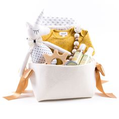 Oeuf Unique baby Gift Basket with Yoli & Otis carrier – Bonjour Baby Baskets - Luxury Baby Gifts