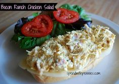 Bacon Ranch Chicken Salad! Easy lunch or light dinner.