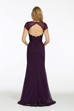 JLM Occasions style 5416 back view with lace jacket.