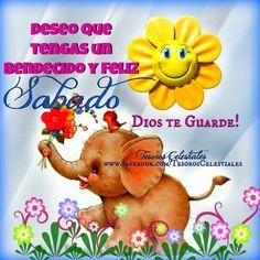 Deseo que tengas un bendecido y Feliz Sábado. Dios te guarde!