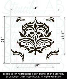 This FLORA- Damask Wall Stencil Stencil is a perfect choice to add a timeless and elegant flair to walls and floor at your home. If you have a desire to give a sophisticated look to the walls at your home- you must to try Damask Wall Stencils. Our large sheet reusable wall stencils now