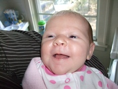 Margaux 2 Months and smiling