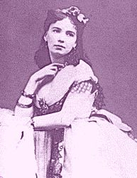 "Cora Pearl (born Emma Elizabeth Crouch, 1835-1886) was an English courtesan or ""demi-mondaine"" who lived in France, and was nicknamed ""the great horizontal"" or ""the daily"". She was mistress to the highest aristocracy of the Second Empire, including Prince Napoleon and the Duke of Morny. After ruining the young Duval in 1872, she was deported for a while. Neither of their reputations recovered, and she died impoverished and forgotten in 1886."