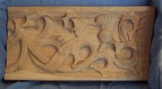 wood carving in English brown oak (copy of 16th century Flemish carving)