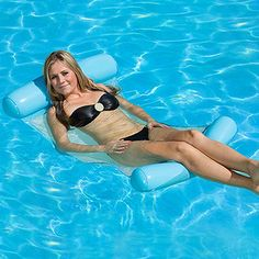 Summer Inflatable Floating Water Hammock Pool Lounge Bed Swimming Chair UK Hot