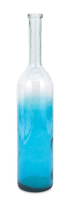 """Granada Large Oversized Recycled Glass Bottle 39.75""""""""h x 8""""""""d"""