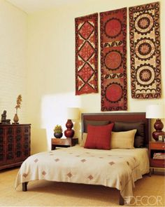 Indian Bedroom Decor, Ethnic Home Decor, Indian Home Decor, Bedroom Art, Boho Decor, Indian Wall Decor, Bedroom Ideas, Bedroom Headboards, Bedroom Interiors