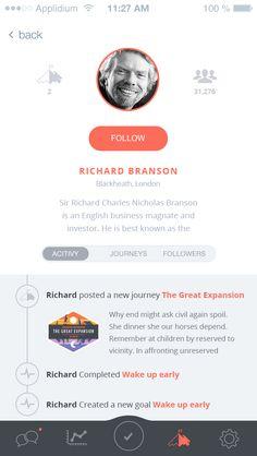 Mobile App - Profile  iOS    App    UX    UI