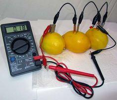 Limon ve patatesten elektrik üretimi yıllar önce keşfedilmiş müthiş bir icat alsında bu organik elektrik üretimidir ayrıca tuzlu su ile de elektrik üretili