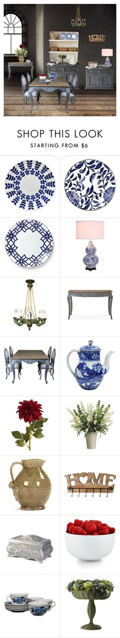 """Casa da Vovó"" by anawinchester on Polyvore featuring interior, interiors, interior design, casa, home decor, interior decorating, Noritake, Dot & Bo, Pier 1 Imports e Gallery"